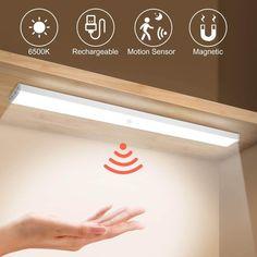 Wireless Under Cabinet Closet LED Light With Motion Sensor – Simply Novelty Wardrobe Lighting, Closet Lighting, Light Kitchen Cabinets, Kitchen Counters, Under Cabinet Lighting Wireless, Smart Closet, Led Closet Light, Armoire, Lighting Concepts