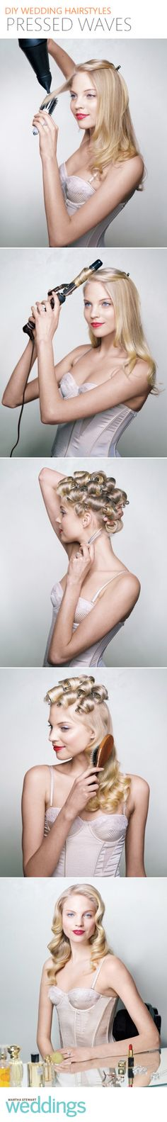 Learn how to master this glamorous pressed waves hairstyle!