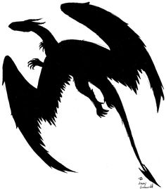 Silhouette Dragon by ~aquabluejay on deviantART