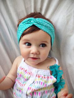 Hey, I found this really awesome Etsy listing at https://www.etsy.com/listing/185581487/teal-abstract-baby-turban