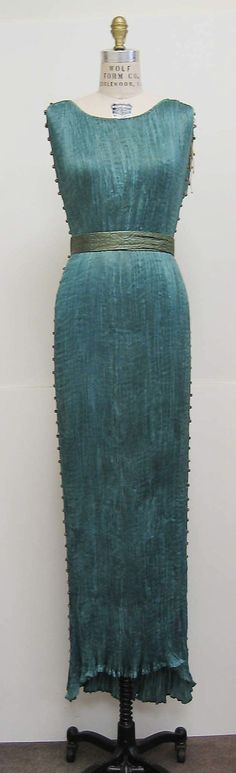 Dress  Fortuny (Italian, founded 1906)  Designer: Mariano Fortuny (Spanish, Granada 1871–1949 Venice) Date: ca. 1932