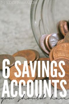Savings accounts are a great tool to keep your budget in check and for making your money work for you. make sure you have these six savings accounts. budgeting budget tips Ways To Save Money, Money Tips, Money Saving Tips, Dave Ramsey, Budgeting Finances, Budgeting Tips, Show Me The Money, Financial Peace, Savings Accounts