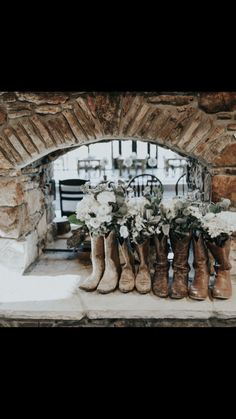 Boots all lined up!