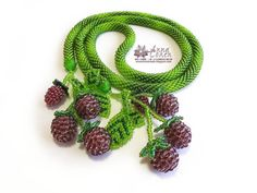 Wild berries lariat FREE SHIPPING by AnnaCohen on Etsy