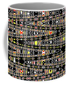 Circles With Color Abstract  Coffee Mug by Tom Janca.  Small (11 oz.)