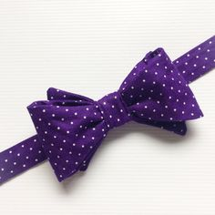 Purple Bow Tie Purple Polka Dot Bow Tie Mens by LoveCrushDresses