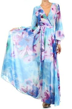 FULL SWEEP Chiffon MAXI DRESS or ROMPER Wrap SHEER Blouse Gown Long Skirt Pants