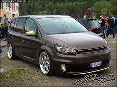Brown custom VW Touran at the Woerthersee Tour 2013