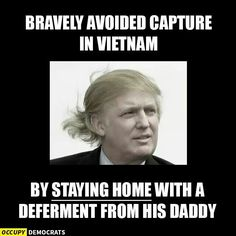 Shameful ~ How will he ever understand the sacrifices our veterans made.