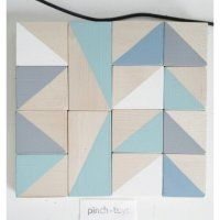 Pinchtoys Holz Bausteine Dreiecke pastel