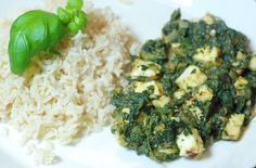 Palak paneer made of nettle (just substitute the greens with nettles) Joko, Palak Paneer, Risotto, Veggies, Herbs, Ethnic Recipes, Vegetable Recipes, Vegetables, Herb