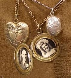 Love vintage lockets with old pictures in them