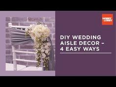 I'm getting married! DIY Aisle Decor for Wedding – 4 Easy Ways Wedding Balloon Decorations, Simple Wedding Decorations, Wedding Ideas, Wedding Trends, Wedding Blog, Wedding Aisle Outdoor, Diy Outdoor Weddings, Hobby Lobby, Amazing Decor