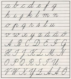 With these I learned to write - handwriting alphabets in Finnish schools for seventy years, until Kaunokirjoitus Handwriting Alphabet, Handwriting Practice, School Memories, Childhood Memories, Nostalgia, Improve Your Handwriting, Handwriting Analysis, Good Old Times, Learning To Write