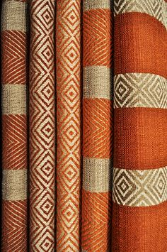 LORO PIANA INTERIORS - knit idea: do a multicolor intarsia stripe in a plain field.