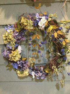 TANGLED UP  in BLUE wreath