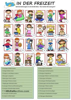Hobbies With Animals Product German Grammar, German Words, German Resources, English Exercises, German Language Learning, Vocabulary Games, Simple Quotes, Learn German, Classroom Posters