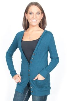 983198c2066 Alki`i Lightweight Lowneck Womens Cardigan Sweater with Front Pockets - 6  colors  19.99 Cardigan