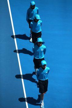 Australian Open 2013 Ball kids walking onto court #ausopen The Republic of Joy Richard Preuss
