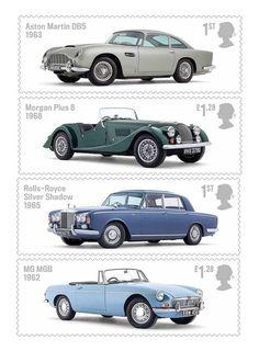 Classic British Cars Stamps