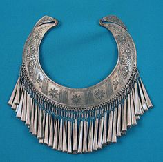 Antique Silver Afghani Necklace, 19th C.  Session 2 - Lot 474 - $110