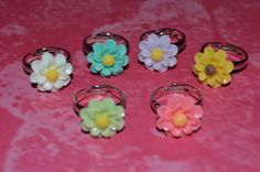 Cutie Tiny Daisy Flower Ring by laiziboicollection on Etsy, $3.00
