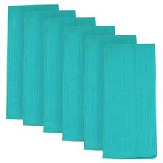 Set of six cotton dishtowels in Caribbean blue.  Product: Set of 6 dishtowelsConstruction Material: 100% CottonColor: Caribbean blueFeatures: Waffle weaveDimensions: 28 x 18 eachCleaning and Care: Machine washable