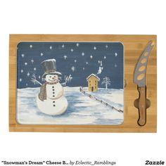 """""""Snowman's Dream"""" Cheese Board"""