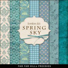New Freebies Background Kit - Spring Sky