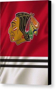 Blackhawks Canvas Print featuring the photograph Chicago Blackhawks Uniform by Joe Hamilton Nhl Logos, Hockey Logos, Chicago Blackhawks Logo, Joe Hamilton, Nhl Hockey Jerseys, Canvas Prints, Art Prints, Canvas Art, National Hockey League