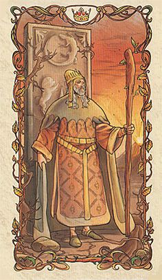 King of Wands - Tarot Mucha