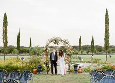 There is something truly magical about the way the light hits the horizon of Texas right at golden hour… The pale, misty blues and greens hues of the landscape are met with curtains of gold and a pastel sky that almost looks as if it's on fire. For Meg + Mike, who are a super...
