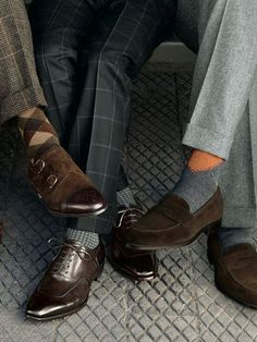 Dress & Casual, always forget that grey and brown look great together..