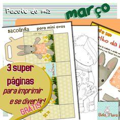 Esse pacote está no capricho pra criançada e pras mamães (e papais). Tem atividade para imprimir e depois recortar, colorir, colar, brincar… Confira e aproveite!! <3 <3 <3 <3 <…