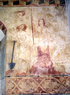 Easby, wall painting. Whilst Adam delve and Eve span...