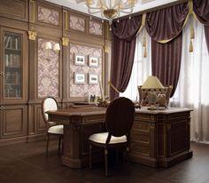 Кабинет в классическом стиле - Галерея 3ddd.ru