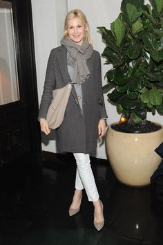 Love her style - classic yet comfy!