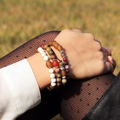 @goodbeads bracelets are not only fashionable, um hello, awesome styling here, but a portion of their proceeds also go to a good cause.