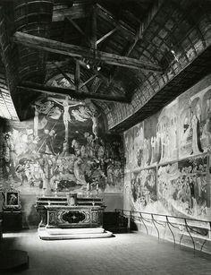 Lorenzo e Jacopo Salimbeni - Crocifissione con le Storie di San Giovanni Battista - affreschi - 1416 - Oratorio di San Giovanni Battista ad Urbino (considerati il capolavoro dei due fratelli)