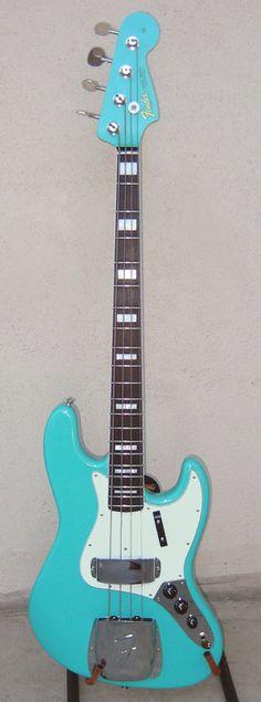 Seafoam Green Fender Jazz Bass