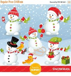 80% OFF SALE Snowman clipart, Christmas snowman, Christmas clipart, Christmas bird clipart, Christmas clip art - CA233 by PremiumClipart on Etsy https://www.etsy.com/uk/listing/250898436/80-off-sale-snowman-clipart-christmas