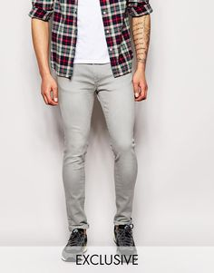 Exclusive+to+ASOS+Waven+Jeans+Erling+Spray+On+Super+Skinny+Fit+Light+Grey