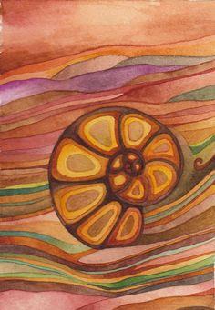 Nautilus Original Watercolor by Megan Noel by meinoel on Etsy, $45.00