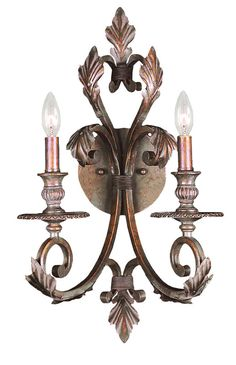 View the Crystorama Lighting Group 6912 Royal 2 Light Candle Style Double Wall Sconce at Build.com.