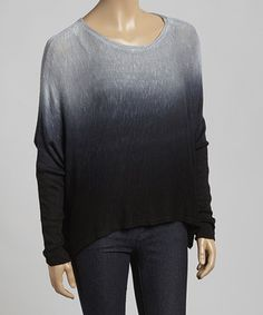 Look what I found on #zulily! Black Ombré Glada Sweatshirt by LOLLY #zulilyfinds