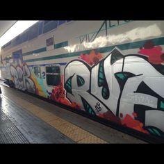 #throwback #tbt #summer #2015 #italy #rimini #beach #train #graffiti #frecciarossa #wanderlust #photooftheday #instagood #onthego #travel #beach #fun #explore #enjoy #trip by mtina_518