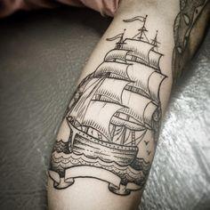 caravela pontilhismo tattoo - Pesquisa Google