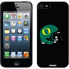 Oregon - Football Helmet Schools design on iPhone 5 Thinshield Snap-On Case by Coveroo in Black