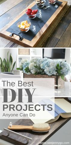 Start the new year off by trying some DIY projects that work great in your home!