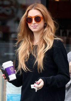 An even more artistic approach to the Ombre trend... Balayage Ombre on Whitney Port. Tempted to get out the bleach now.